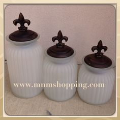 Fleur De Lis Canister Set By Mud Pie At Soleil Garden Center Pinterest Sets And Kitchens
