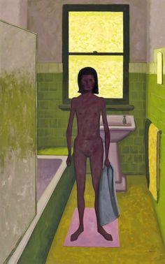 John BRACK I The bathroom. Dimensions: w812 x h1294 cm