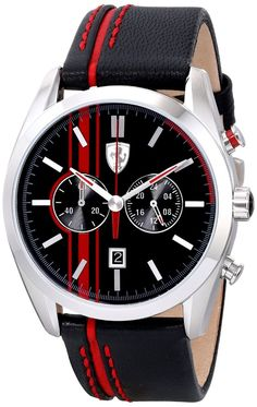 Men watches : Ferrari Men's 0830177 D 50 Analog Display Quartz Black Watch