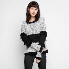 Compre Tricot Colcci Bicolor Preto e Branco na Zattini a nova loja de moda online da Netshoes. Encontre Sapatos, Sandálias, Bolsas e Acessórios. Clique e Confira!