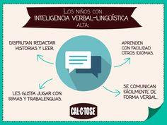 Un niño con la Inteligencia Verbal Lingüísitca Alta tiene estas características.