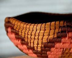 Beautiful pine needle basket