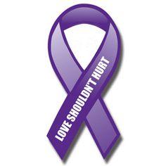 domestic violence awareness. want a small purple ribbon tattoo behind my ear.
