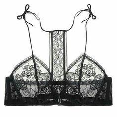Lingerie / Inspired by black lace bralettes / Lingerie Chic, Lingerie Drawer, Pretty Lingerie, Sheer Lingerie, Beautiful Lingerie, Lingerie Set, Honeymoon Lingerie, Lingerie Underwear, Delicate Lingerie