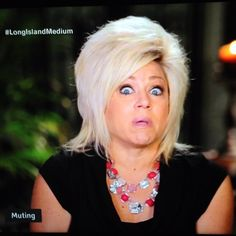 "As always, during the first 5 minutes your eyes are fixated on that head of hair. | What It Feels Like To Watch ""Long Island Medium"""