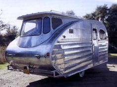 1947 Great Western Delux trailer camper glamping retro futuristic streamlined aluminum by alyce