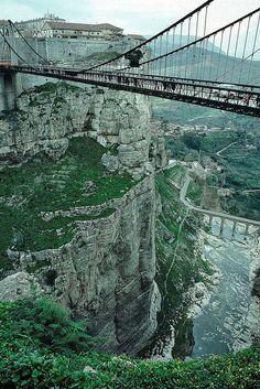 Sidi M'Cid bridge over the gorge in Constantine, Algeria