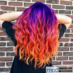 Cute Hair Colors, Pretty Hair Color, Bright Hair Colors, Beautiful Hair Color, Hair Dye Colors, Ombre Hair Color, Bright Purple Hair, Beautiful Women, Afro Hairstyles