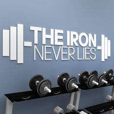 The Iron Never Lies 3D Gym Decor Gym Decor, Wall Art Decor, Indoor Gym, Gallery Wall Frames, Gym Quote, Sign Quotes, Wall Decals, Iron, 3d