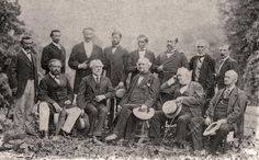 General Lee and his Confederate officers in their first meeting since Appomattox, in August 1869