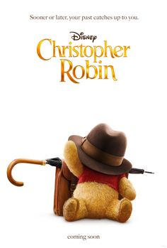 Movie Poster for Disney's Christopher Robin. Click to see the sweet teaser trailer for this upcoming film. #ChristopherRobin