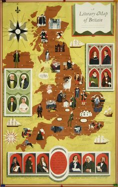 Literary map of Britain.