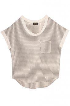 oversized stripe tee ++ le mont st. michel