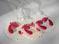 Baby girl tag / Baby girl shower decor / Baby feet