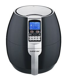 GoWISE USA 8-in-1 Electric Air Fryer with Digital Programmable Cooking Settings 2.5 QT Black