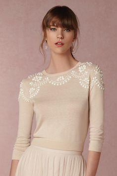 Millie Sweater in Shoes & Accessories Cover Ups at BHLDN