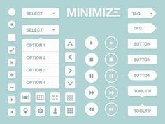 white-flat-web-button