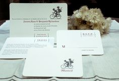 Letterpressed Wedding Invitations from Chewing the Cud.