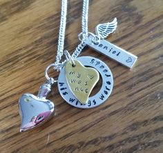 Locket for ashes or hair memorial necklace silver heart for Father daughter cremation jewelry