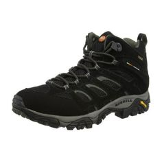 Merrell J584597-10-D Men s Moab Mid Gore-Tex Black Leather   Fabric 840633a14a29c