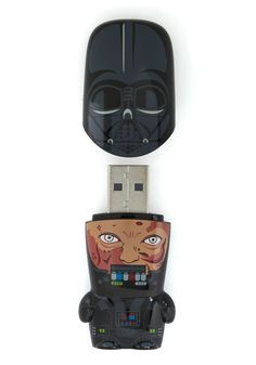 USB Flash Drive in Darth Vader - Take your files far, far away with this collector's USB key - a miniature 'clone' from the Star Wars cast!