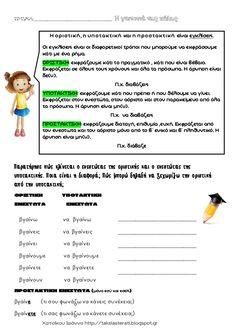 η ζωή στην πολη Grammar, Greek, Education, Onderwijs, Learning, Greece
