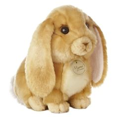 Realistic Stuffed Lop-eared Rabbit 10 Inch Plush Animal by Aurora at... ($12) ❤ liked on Polyvore featuring stuffed animals, toys, animals, misc and rabbit