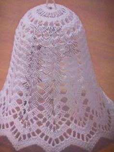 Pokračovanie skúšobných zvončekov amatérsky popis - Her Crochet Crochet Angel Pattern, Crochet Angels, Crochet Doily Patterns, Tatting Patterns, Thread Crochet, Crochet Motif, Diy Crochet, Crochet Designs, Crochet Doilies