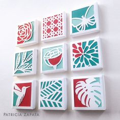 Canvas cutouts DIY wall art – flip over canvas, stencil, cut with x-acto knife. Glue paper to back of canvas for color. Diy And Crafts, Arts And Crafts, Paper Crafts, Diy Wall Art, Diy Art, Cut Out Canvas, Paper Quilt, Creation Deco, Kirigami