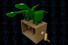Dinos Wooden Toy - STEP / IGES,SOLIDWORKS,Parasolid - 3D CAD model - GrabCAD