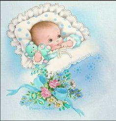 Ideas baby ilustration boy bebe for 2019 Free Baby Patterns, Baby Knitting Patterns, Sewing Patterns, Crochet Patterns, Free Knitting, Vintage Baby Boys, Vintage Children, Moldes Para Baby Shower, Scrapbook Bebe