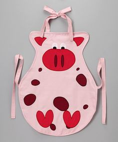 Take a look at this Pig Apron - Kids by Whim