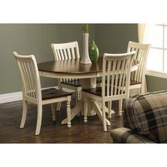 Pedestal Table - Cherry/White 2 Tone