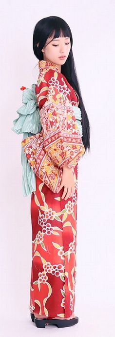 "Nico @ntique yukata collection spring-summer 2014 C&Chanvre : yukata ""Elsa"" エルーザ"