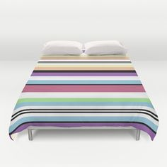 Striped Duvet Cover by Katy Martin Color Stripes, Home Bedroom, Duvet Covers, Outdoor Blanket, Colours, Pattern, Furniture, Home Decor, Decoration Home