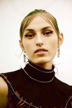 Zoe Huxford (Elite) backstage at Prada SS15 - my autumn make-up