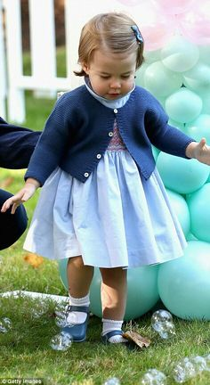 Princess Charlotte at a children's party at Government House Canada. September 29 2016