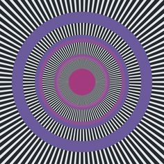 Enigma - a classic illusory motion illusion by Isia Leviant. Look at the purple rings and you should start to notice scintillating activity.