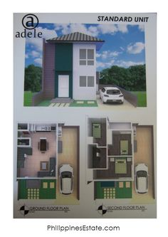 Adele Residences Standard Unit- Lot sqm (or bigger) Floor area- 67 sqm, 1 T&B, Single Attached. Ground Floor Plan, Lots For Sale, Second Floor, Adele, Philippines, New Homes, Floor Plans, The Unit, Flooring