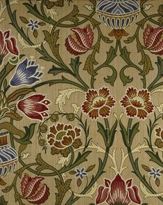 Brocade by William Morris. Brooklyn Museum: Decorative Arts: Wallpaper Sample Book