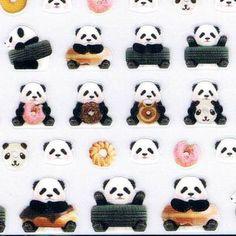 Japan Q-lia kawaii PANDA sticker sheet/photrip kawaiistickers4you