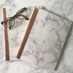 Back to School- DIY Rose Gold Marbled Notebook | Pink Glitter Life