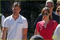 Jamie Dornan & Dakota Johnson Continue Filming 'Fifty Shades' in France After Attack: Photo #3707346. Jamie Dornan and Dakota Johnson walk side by side while on the set of Fifty Shades Freed on Friday afternoon (July 15) in Roquebrune-Cap-Martin, France.    The co-stars…