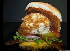 Fried ice-cream cheeseburger