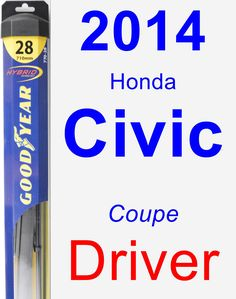 Driver Wiper Blade for 2014 Honda Civic - Hybrid