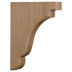 This durable and elegant Ekena Millwork Maple Bedford Wood Bracket is the perfect choice for supporting countertops and shelving. Decorative Brackets, Wood Brackets, Shelf Brackets, Wooden Corbels, Corner Moulding, Panel Moulding, Shelf Hardware, Home Hardware, Chair Rail Molding
