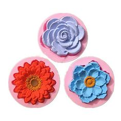 Three Lovely Flowers (Countryside Series 2) Silicone Molds (3 Pieces)