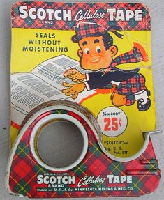 Scotch tape had the bold Scotch plaid packaging