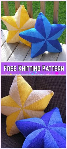 Knit Star Pillow Fre