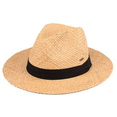 Spring Summer Raffia Panama Hat with Ribbon (DA-10)